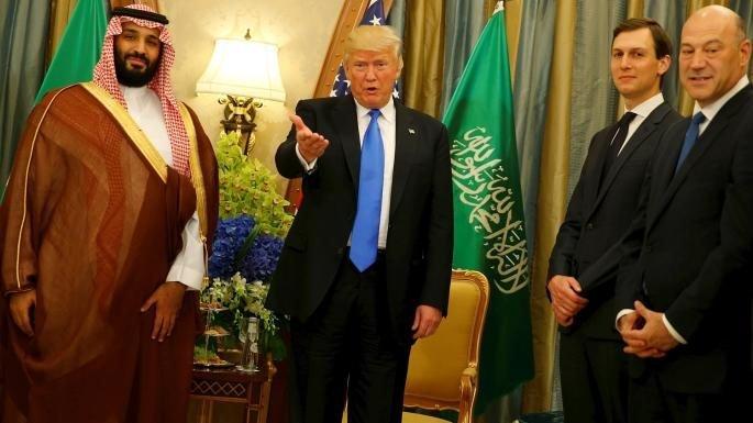 Suudi Arabistan Veliaht Prensi Muhammed Bin Selman, ABD Başkanı Donald Trump ve Jared Kushner