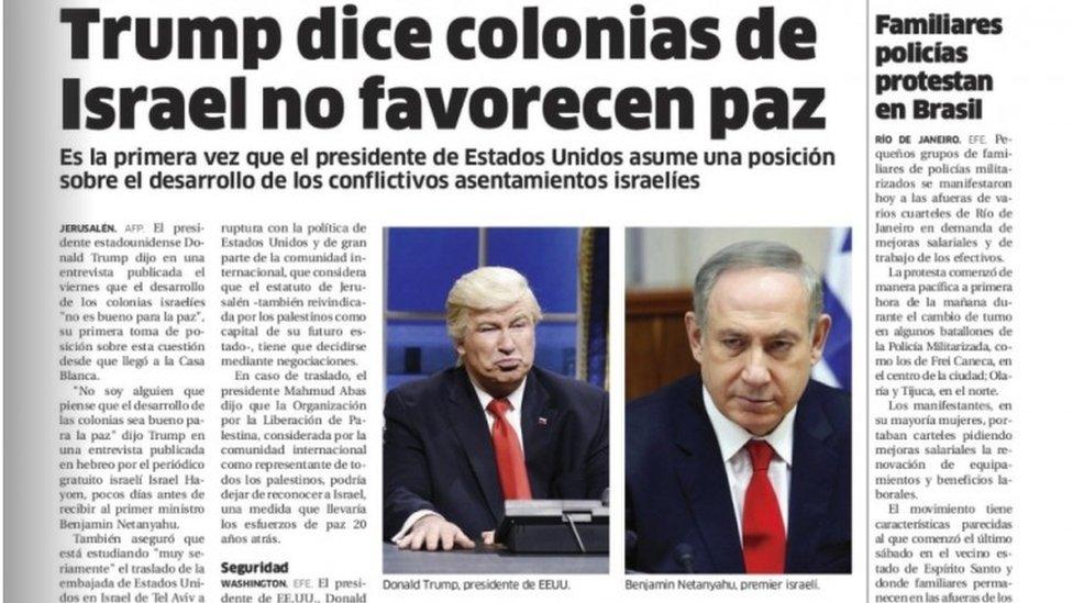 Alec Baldwin S Trump Act Fools Newspaper Bbc News