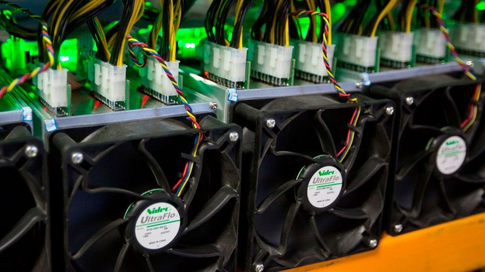 Mining machines used for mining bitcoins