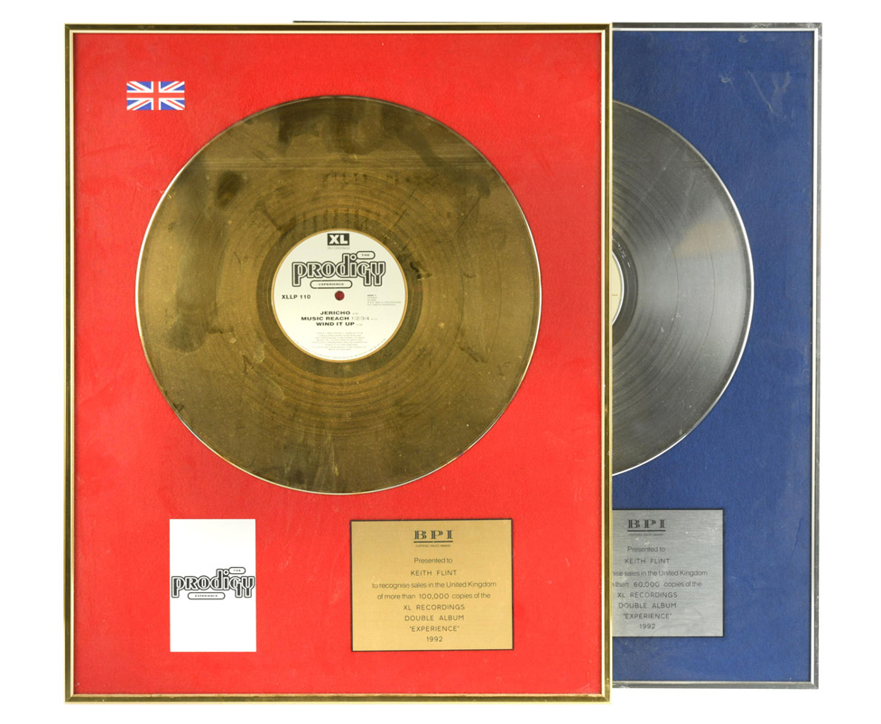 Keith Flint's gold discs