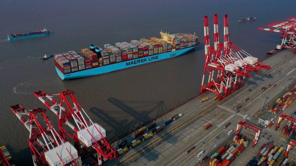Puerto en China.