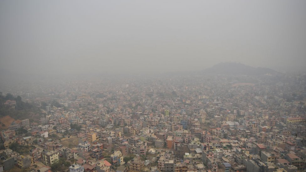 Nepal's capital, Kathmandu blanketed in haze