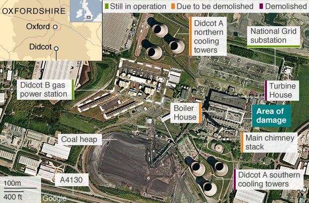 Map of Didcot incident