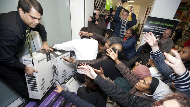Shoppers grab for cut-price TVs