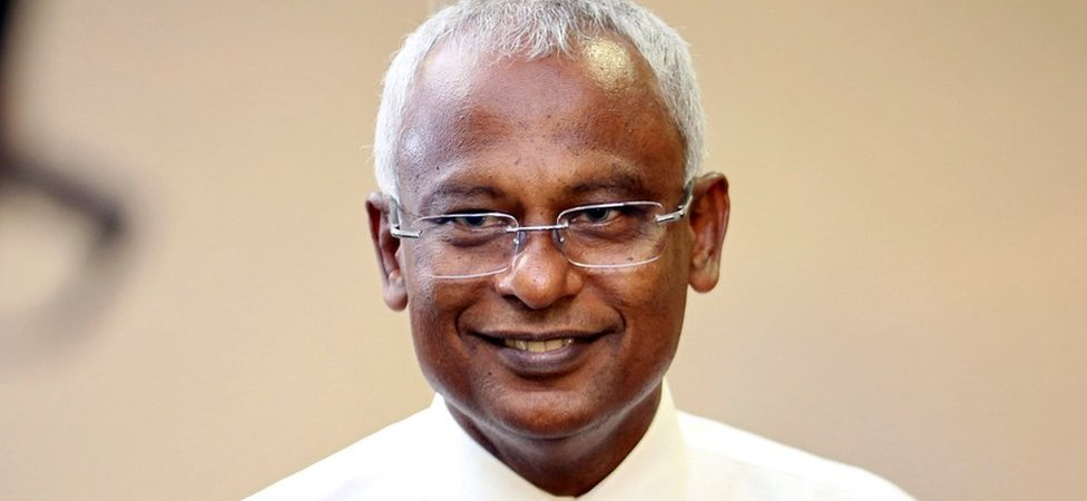 Maldivian joint opposition presidential candidate Mohamed Solih