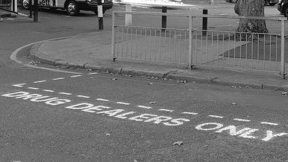 'Drug dealers only' parking space highlights London crime