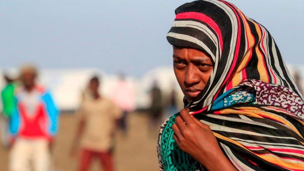 لاجئة إثيوبية في السودان