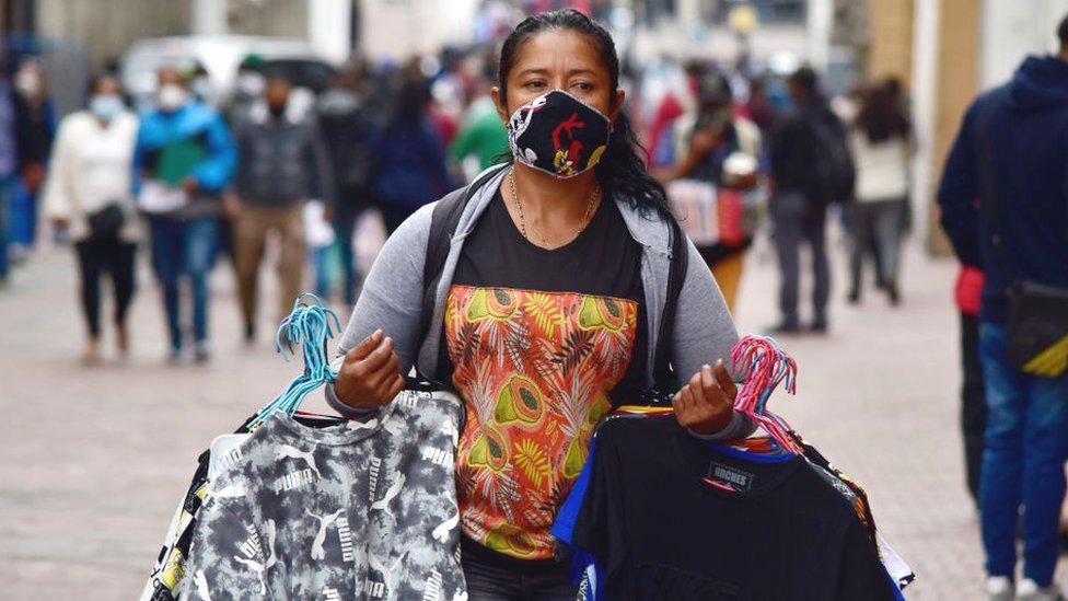 Vendedora en Ecuador