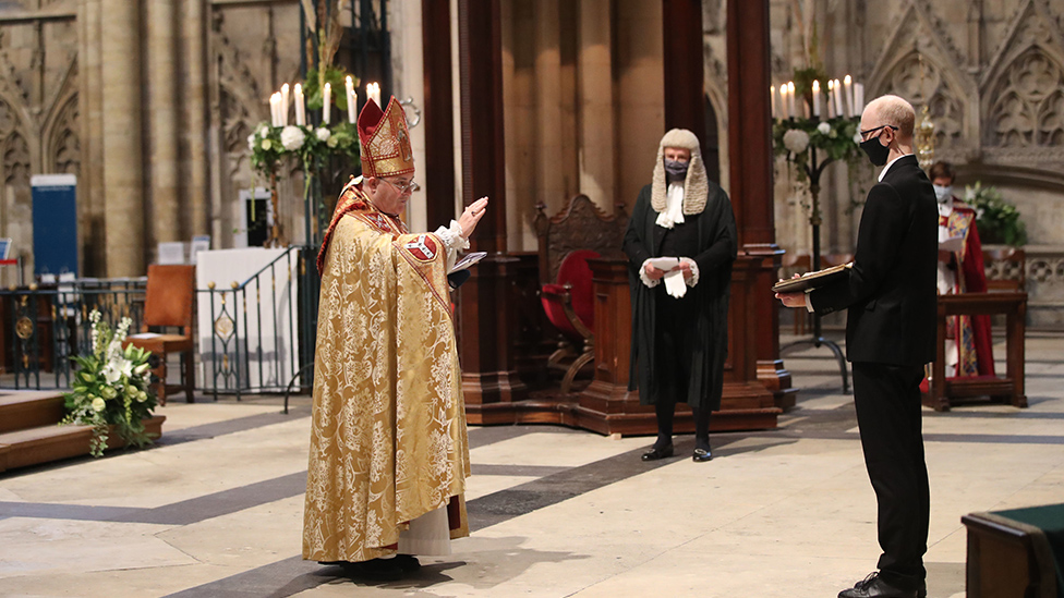 Ceremony at York Minster