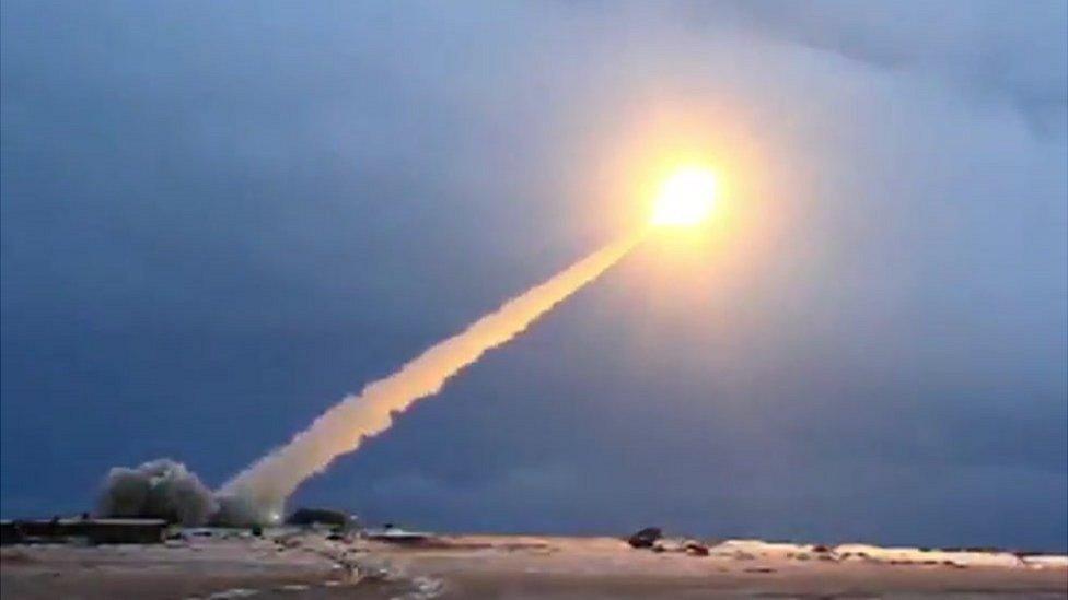 """اختبار إطلاق صاروخ من نوع """"بوريفيستنيك"""" من فيديو نشرته وزارة الدفاع الروسية"""
