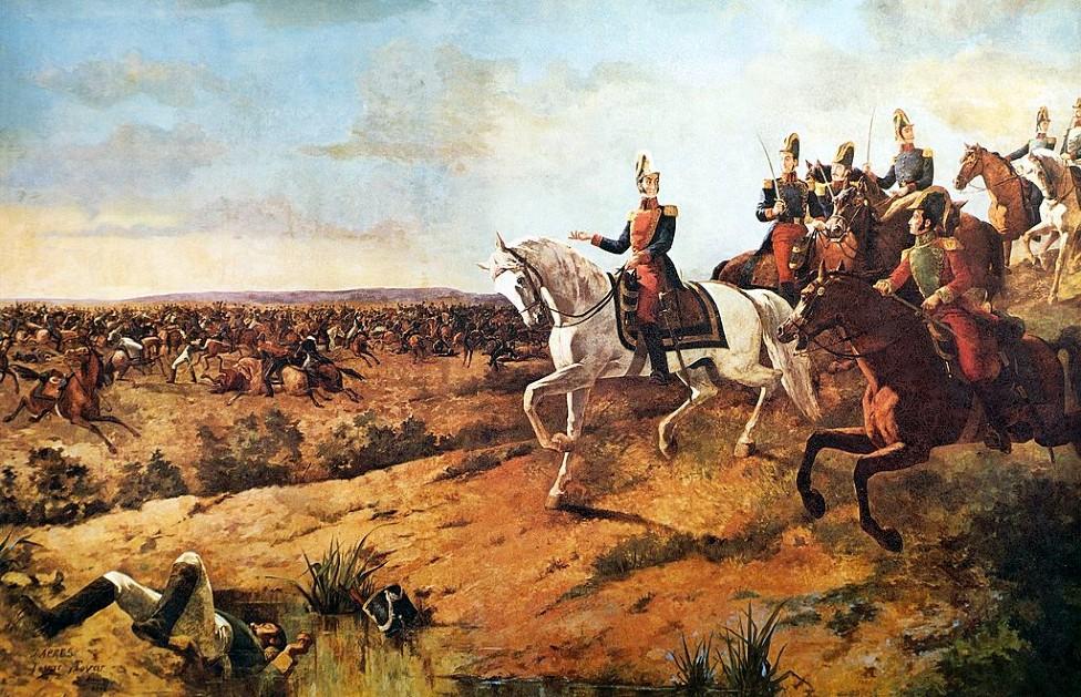Batalla de Junín, Oleo de Martín Tovar y Tovar