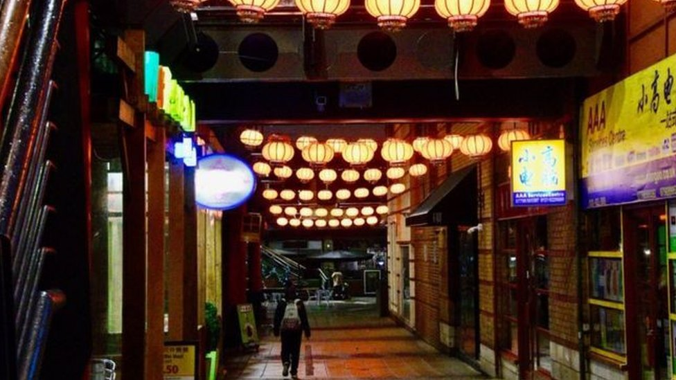 新冠病毒疫情下的伯明翰中國城(Credit: BBC)