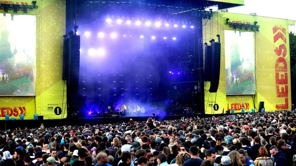 The Leeds Festival stage