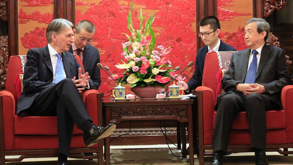 Philip Hammond met China's vice premier in Beijing
