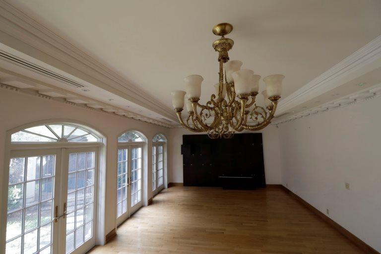 Vista de un salón de la residencia