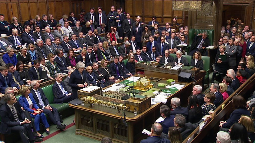 Brexit: MPs vote 'no' to Theresa May's deal