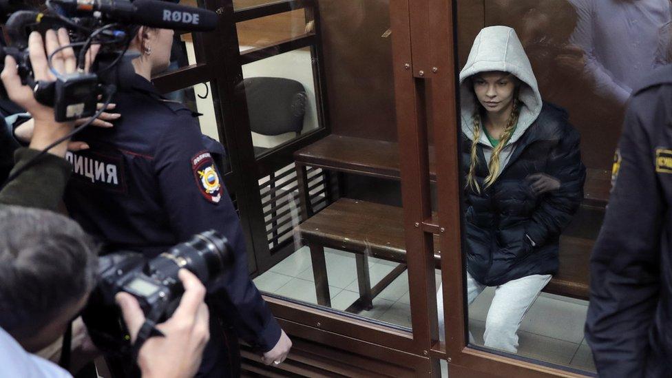 Anastasija Vašukevič u sudu u Moskvi, 19. januar 2019. godine