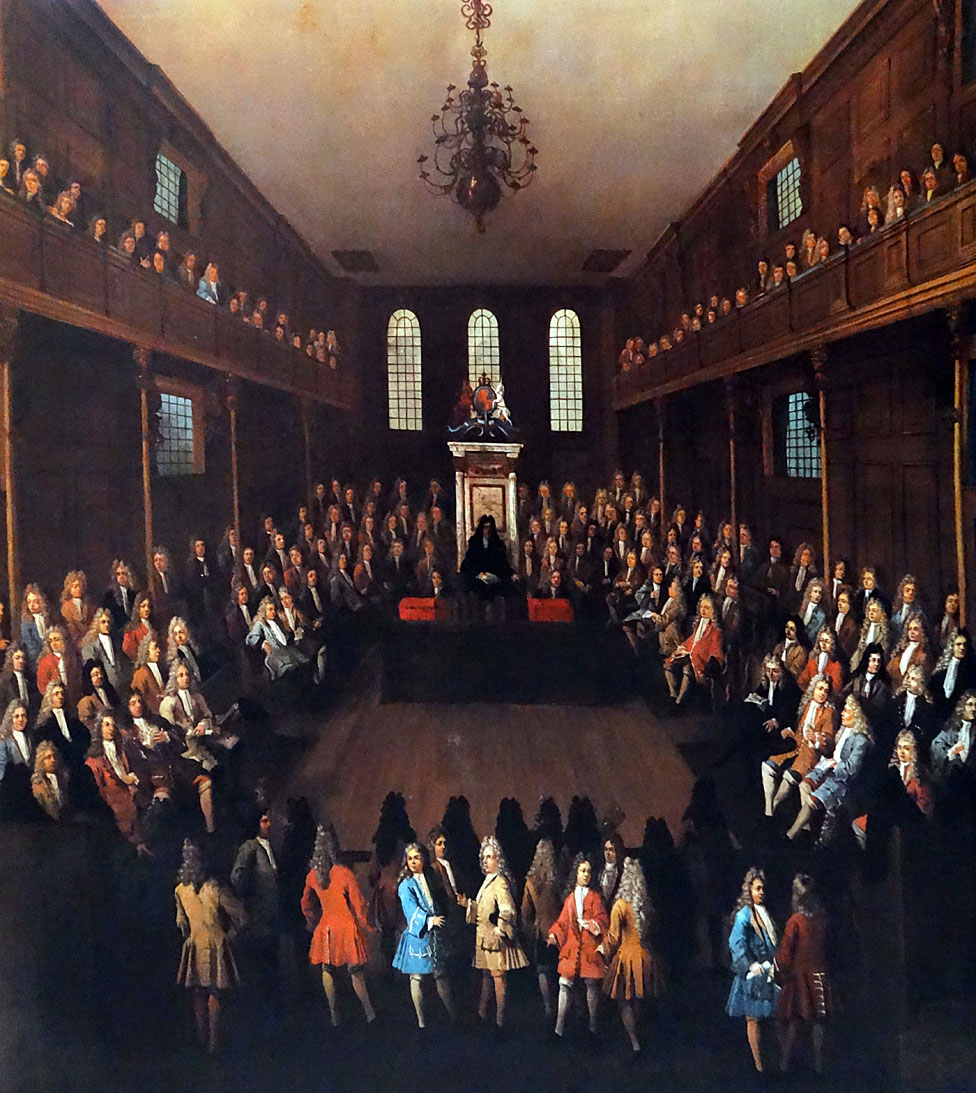 Cámara de los comunes 1710 por Peter Tillemans