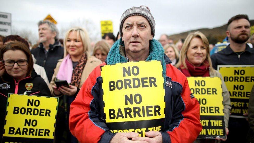 Protesta frontera Irlandas