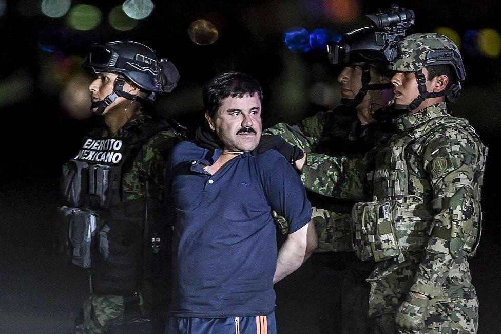 El Chapo detenido.