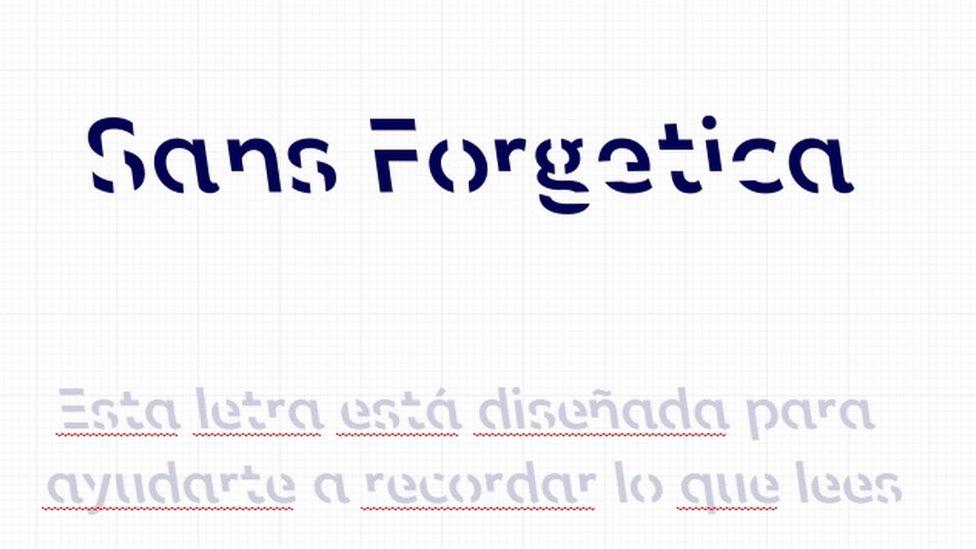 Tipografía Sans Forgetica