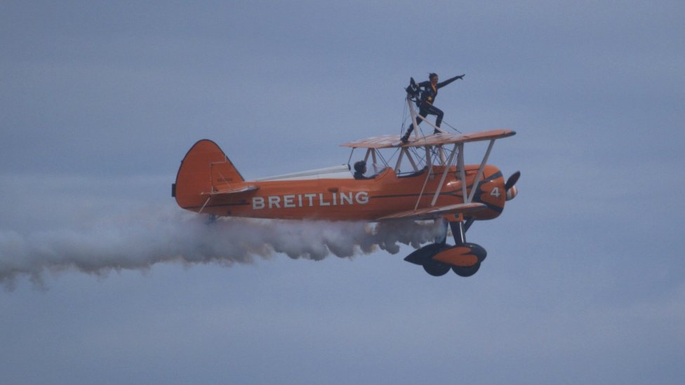 Wing walkers at the airshow