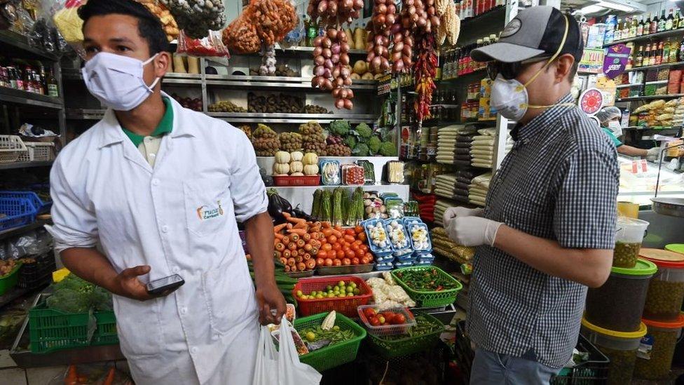 Mercado en Lima.