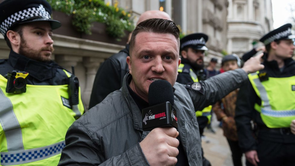 Swansea teachers 'abused' by Tommy Robinson supporters