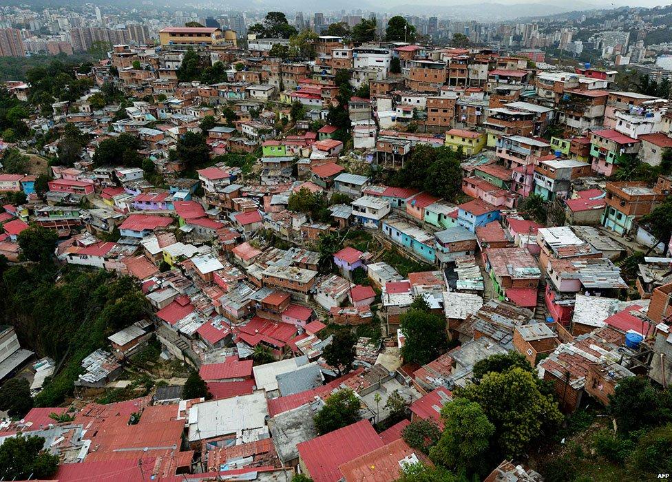 Aerial image of San Agustín barrio