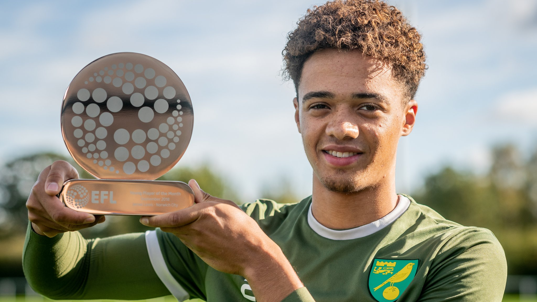 Jamal Lewis: Norwich City left-back wins EFL Young Player of the Month award