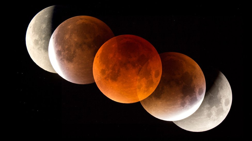 Skywatchers await 'super blood wolf moon'