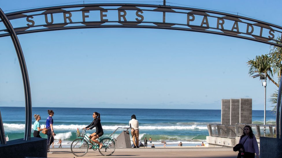 Surfers Paradise on the Gold Coast in Queensland