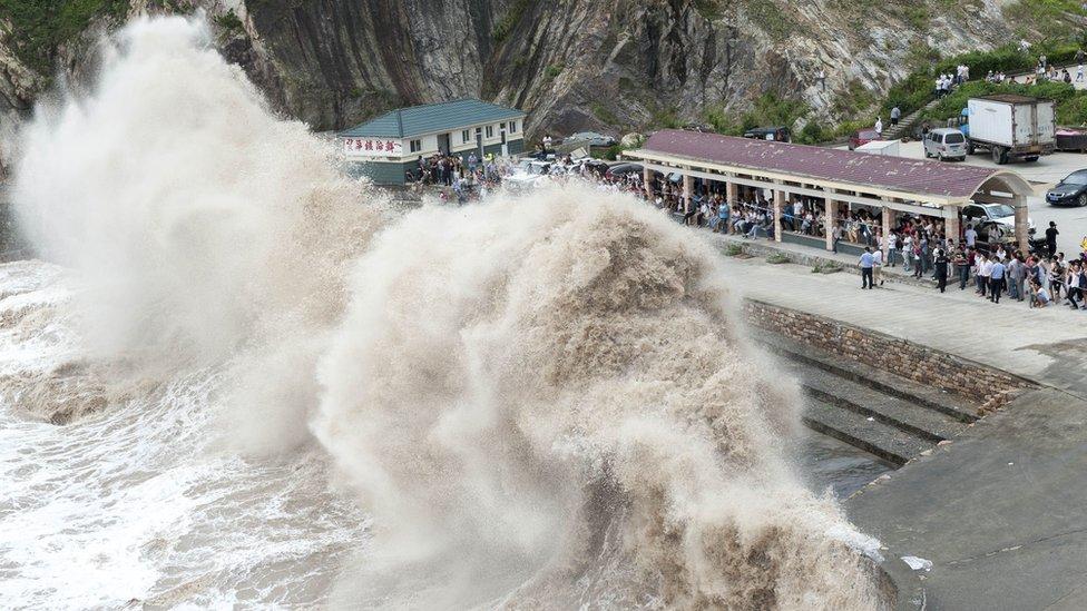 La llegada del tifón Chan-hom