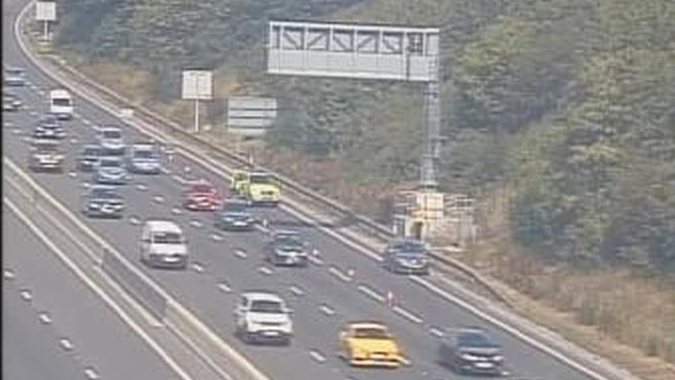 Driver who left car on M1 'had somewhere to be'