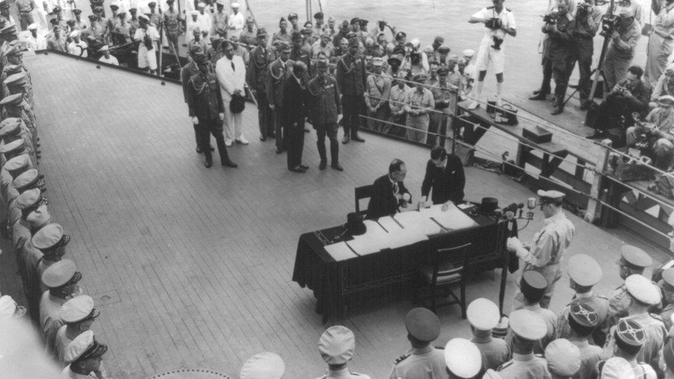 日本簽署投降書