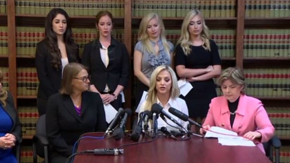 The woman filed their lawsuit on Friday in a Texas court