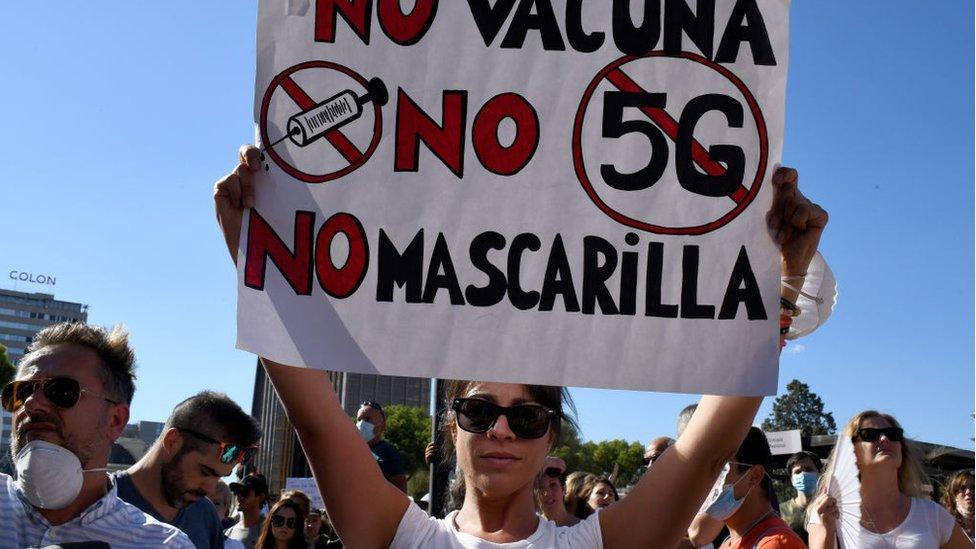 Protesto em Madrid
