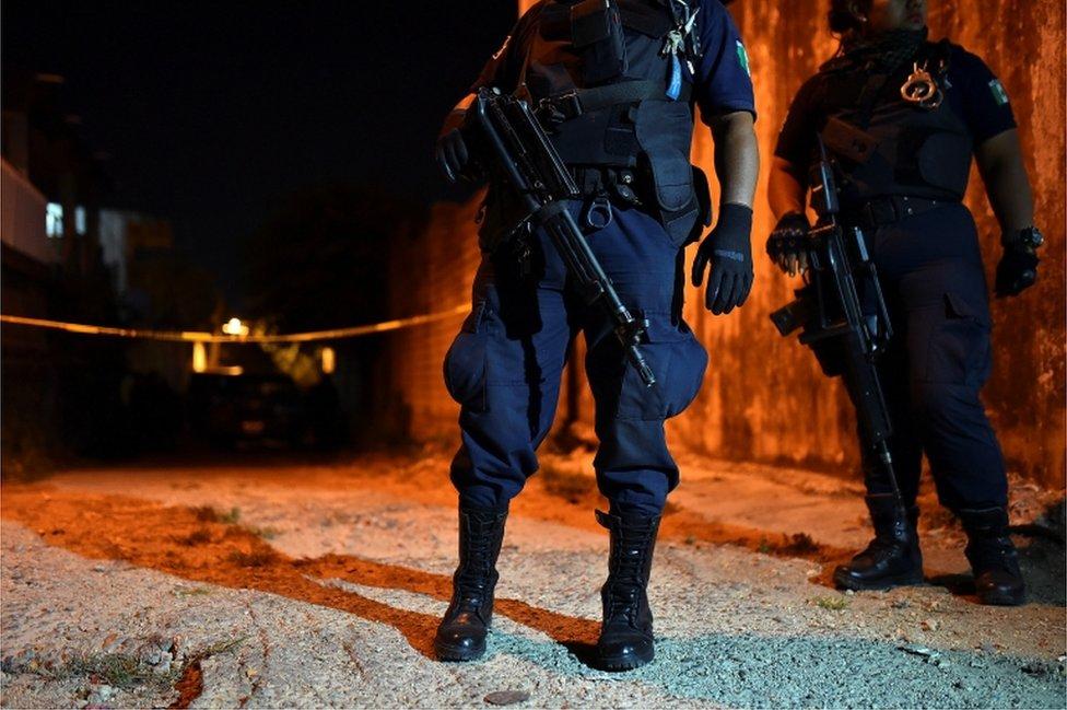 Escena del crimen en Minatitlán.
