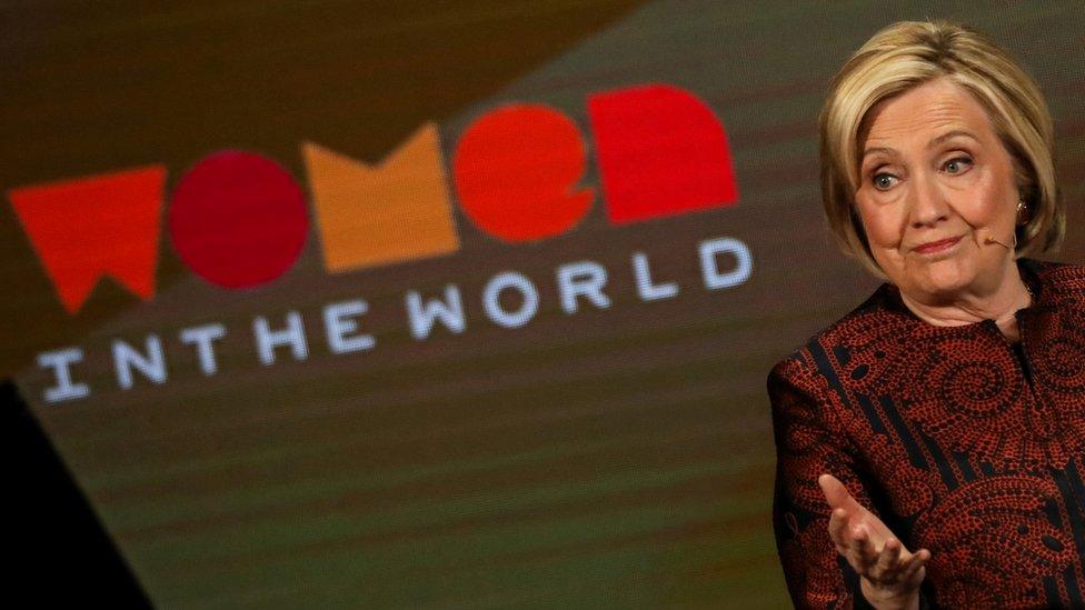 Hillary Clinton durante un evento en Nueva York.