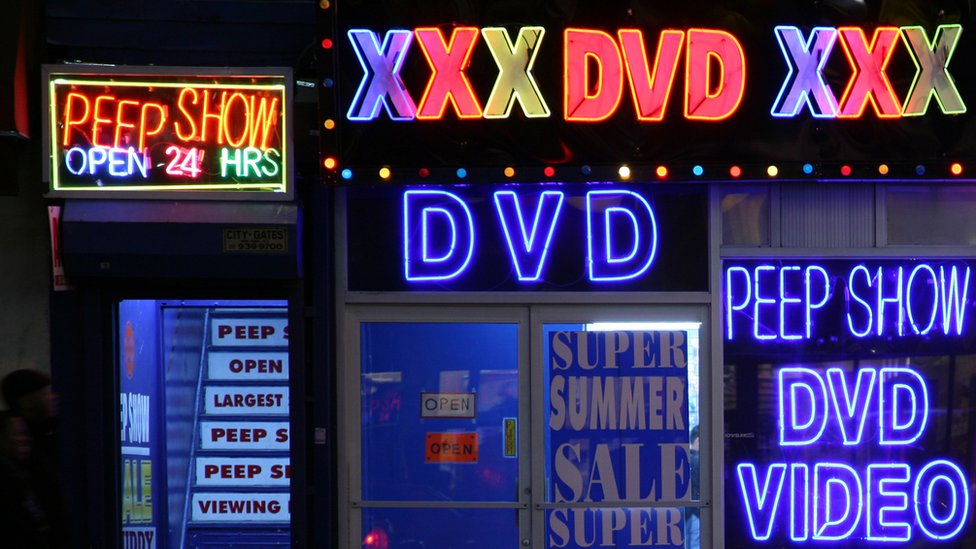 Porn shop in New York City