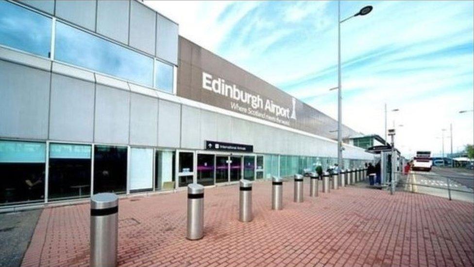 Terrorism training exercise at Edinburgh Airport