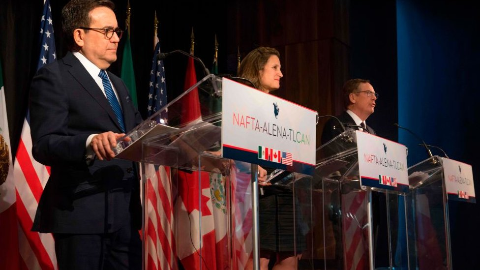 Representatives from Canada, Mexico and the US meet to discuss Nafta in January 2018