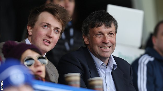 Sam Oyston (left) and father Karl