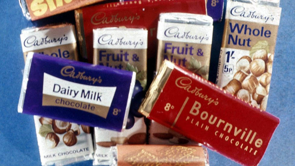 A selection of old-fashioned Cadbury chocolate