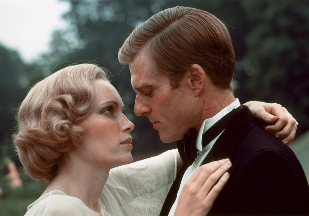 Mia Farrow and Robert Redford in The Great Gatsby, 1974
