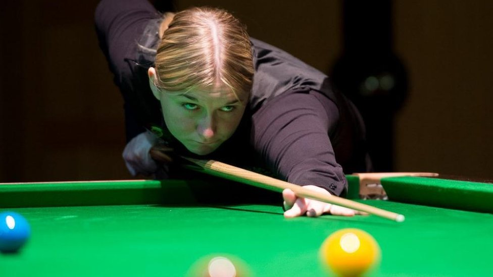 Rebecca Kenna quits snooker league over 'men only' rule