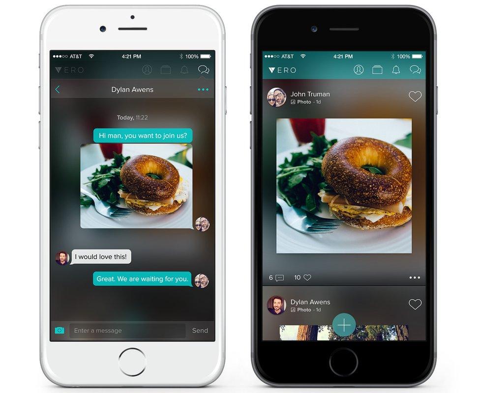 Vero app screenshots