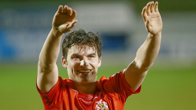 Portadown's Phlip Lowry scored the winning goal against his former club Linfield