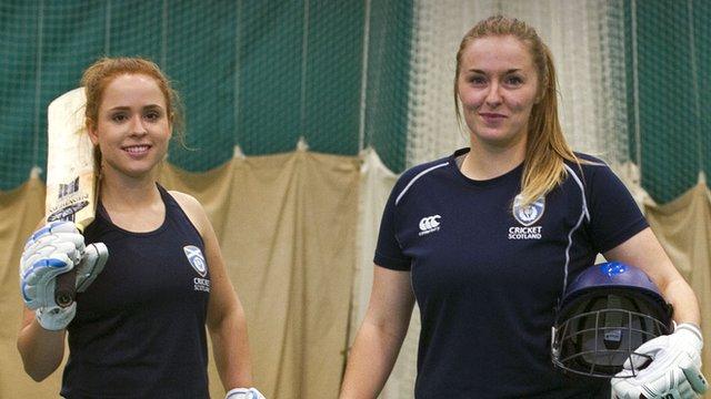 Scotland cricketers Liz Priddle and Abbi Aitken