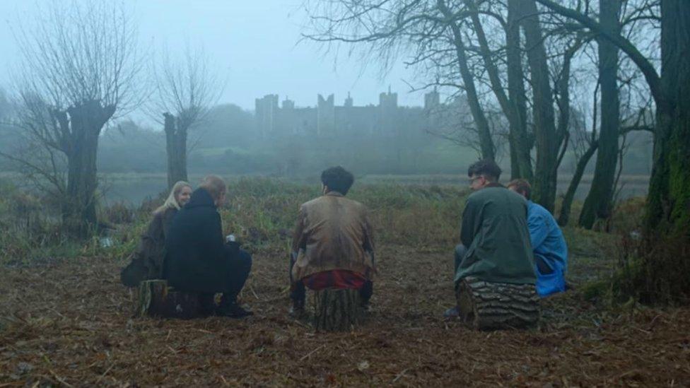 Framlingham Castle in Ed Sheeran's Castle on the Hill video